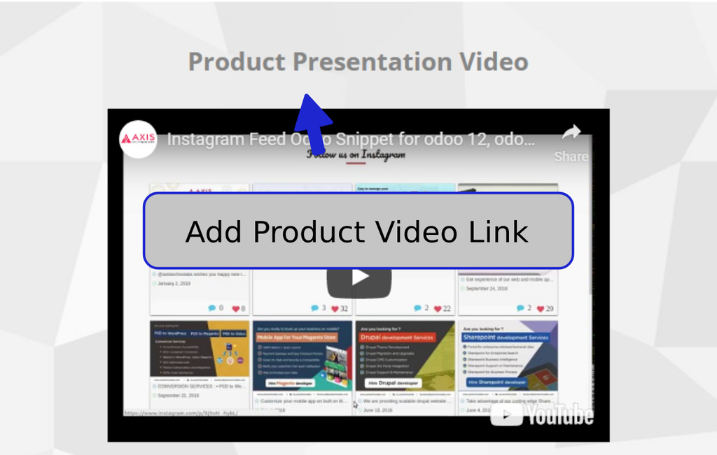 You can add YouTube,Vimeo,etc. video link