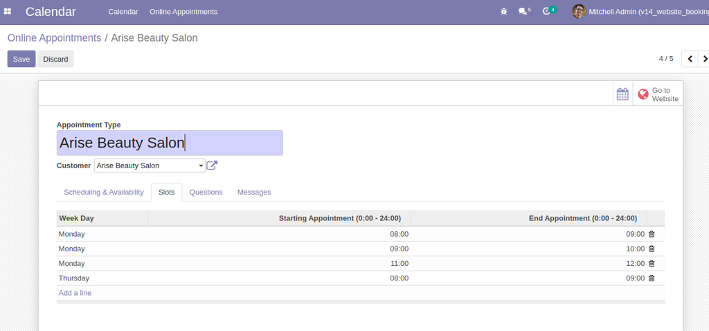 Website Booking in odoo,Website Appointment Booking in odoo, calendar booking slot in odoo