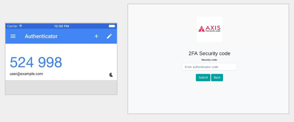 Enter 2FA code from authenticator app and click on verify button to proceed with login.
